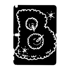Funny Black And White Doodle Snowballs Samsung Galaxy Note 10 1 (p600) Hardshell Case