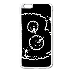 Funny Black And White Doodle Snowballs Apple iPhone 6 Plus/6S Plus Enamel White Case