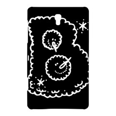 Funny Black And White Doodle Snowballs Samsung Galaxy Tab S (8.4 ) Hardshell Case