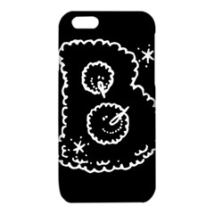 Funny Black And White Doodle Snowballs iPhone 6/6S TPU Case