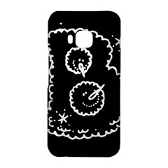 Funny Black And White Doodle Snowballs HTC One M9 Hardshell Case