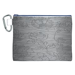 Embossed Rose Pattern Canvas Cosmetic Bag (XXL)