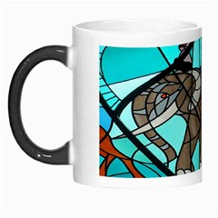 Elephant Stained Glass Morph Mugs