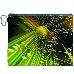Electronics Machine Technology Circuit Electronic Computer Technics Detail Psychedelic Abstract Patt Canvas Cosmetic Bag (XXXL)