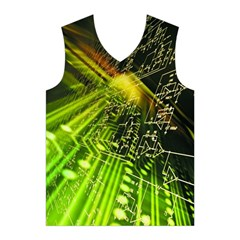 Electronics Machine Technology Circuit Electronic Computer Technics Detail Psychedelic Abstract Patt Men s Basketball Tank Top