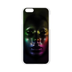 Digital Art Psychedelic Face Skull Color Apple Seamless iPhone 6/6S Case (Transparent)