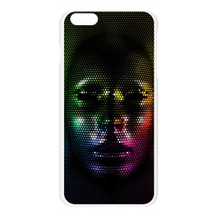 Digital Art Psychedelic Face Skull Color Apple Seamless iPhone 6 Plus/6S Plus Case (Transparent)