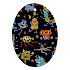 Large Pablic Cartoons Oval Ornament (two Sides)