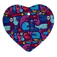 Mo Monsters Mo Patterns Ornament (Heart)