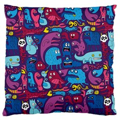 Mo Monsters Mo Patterns Large Flano Cushion Case (Two Sides)