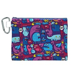 Mo Monsters Mo Patterns Canvas Cosmetic Bag (XL)