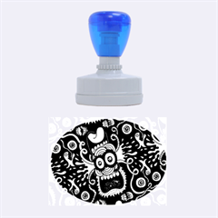 Monster Face Mask Patten Cartoons Rubber Oval Stamps