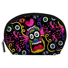 Monster Face Mask Patten Cartoons Accessory Pouches (large)