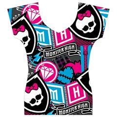 Monster High Women s V-Neck Cap Sleeve Top