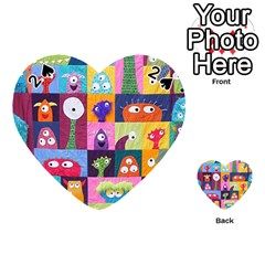 Monster Quilt Playing Cards 54 (heart)