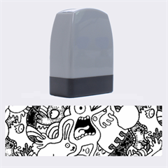 Monsters Pattern Name Stamps