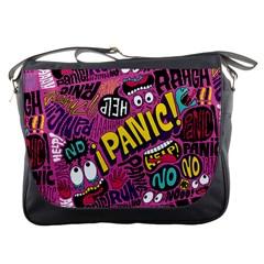 Panic Pattern Messenger Bags