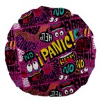 Panic Pattern Large 18  Premium Flano Round Cushions Front