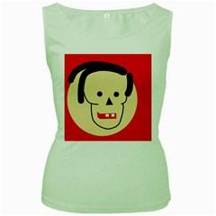 Face Women s Green Tank Top
