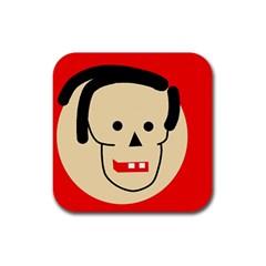 Face Rubber Coaster (Square)