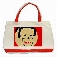 Face Classic Tote Bag (Red)