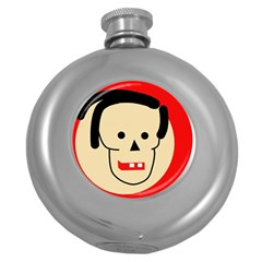 Face Round Hip Flask (5 oz)