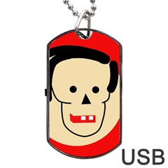 Face Dog Tag USB Flash (One Side)