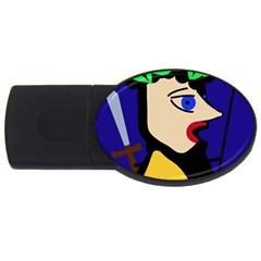Warrior USB Flash Drive Oval (1 GB)