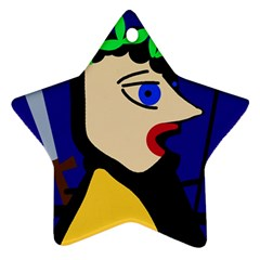 Warrior Star Ornament (Two Sides)