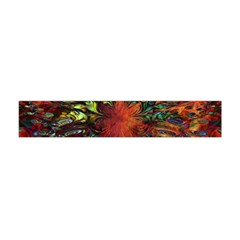 Boho Bohemian Hippie Floral Abstract Flano Scarf (Mini)