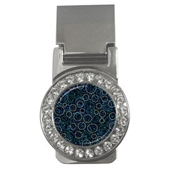 Blue abstract decor Money Clips (CZ)