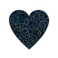 Blue abstract decor Heart Magnet