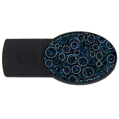 Blue abstract decor USB Flash Drive Oval (1 GB)