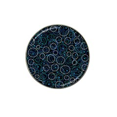 Blue abstract decor Hat Clip Ball Marker