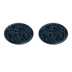 Blue abstract decor Cufflinks (Oval)