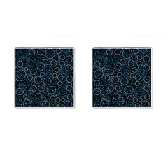 Blue abstract decor Cufflinks (Square)