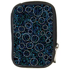 Blue Abstract Decor Compact Camera Cases
