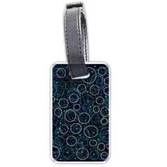 Blue abstract decor Luggage Tags (Two Sides)