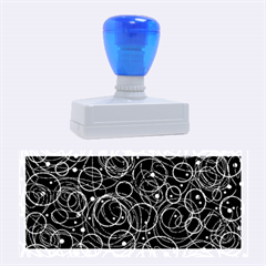 Blue abstract decor Rubber Stamps (Large)