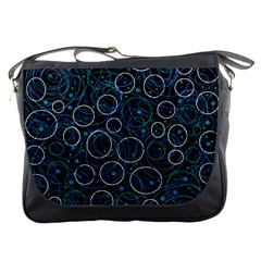 Blue abstract decor Messenger Bags