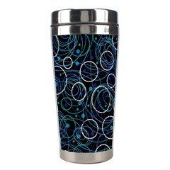 Blue abstract decor Stainless Steel Travel Tumblers
