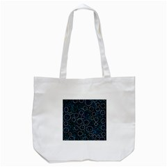 Blue abstract decor Tote Bag (White)