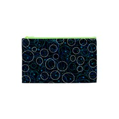Blue abstract decor Cosmetic Bag (XS)