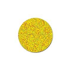 Yellow abstract art Golf Ball Marker (4 pack)