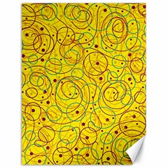 Yellow abstract art Canvas 18  x 24