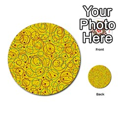 Yellow abstract art Multi-purpose Cards (Round)