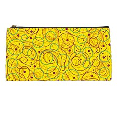 Yellow abstract art Pencil Cases