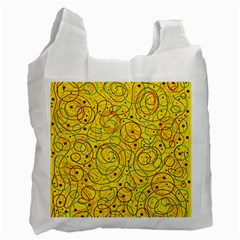 Yellow abstract art Recycle Bag (Two Side)