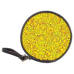Yellow abstract art Classic 20-CD Wallets