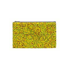 Yellow abstract art Cosmetic Bag (Small)
